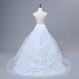 $enCountryForm.capitalKeyWord Australia - Free shipping High Quality White Petticoat Train Crinoline Underskirt 3-Layers For Wedding Dresses Bridal Gowns