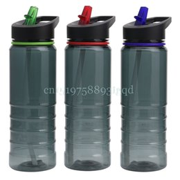 Discount water bottles new straws - 750ML Flip Straw Cycling Bicycle Camping Drink Hydration Water Bottle Sport New#T518#