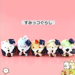 """$enCountryForm.capitalKeyWord Canada - Top New 4"""" 10CM Sumikko With Doctor Hat Plush Doll Pendant Anime Dolls Keychains Party Gifts Stuffed Soft Toys"""