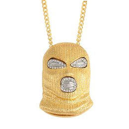 Chain Counter UK - 2018 NEW Counter terrorism Headgear pendant necklaces for Hip Hop men engagement jewelry Gold Color Fashion Birthday Gift
