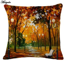 $enCountryForm.capitalKeyWord UK - New Linen Pillow Cover Vintage Tree Scenery Pattern Cushion Cover Home Decorative Pillow Cushion Without Filling PC102