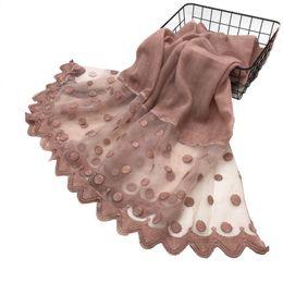 $enCountryForm.capitalKeyWord Australia - Women Cotton Viscose Dots Silk Lace Patchwork Ruffles Scarf Shawl Pashmina Head Wraps Elegant Lady Scarves