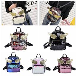 Discount small girls backpack - 5 Colors Glitter Sequins Wings Girls backpack Shoulder Travel School bag Fashion Women Handbags Cute Mini Small cartoon