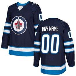 2016 2018 индивидуальные мужские Winnipeg струи пользовательские любое имя любое количество хоккей Джерси, подлинный Джерси сшитые принять размер смеси Ord S-3XL