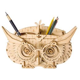 Chinese  3D Wooden Puzzle Owl Craft Kits Box Brain Teaser Puzzle for Kids Great Pen Container for Adults manufacturers