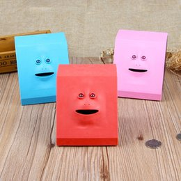 Box eat online shopping - Face Bank Eating Coins Box Creative Cartoon Piggy Banks For Children Toys Gift Multi Color xf C