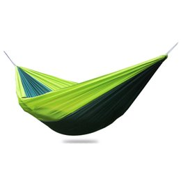 hanging outdoor beds UK - The Newest Breathable Hammock Outdoor Double People Parachute 210t Nylon Swing Tourism Hiking Leisure Hanging Bed 250*140cm