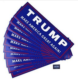 Wholesale Car Bumpers Australia - Blue US Presidential Election Trump Bumper Car Stickers Decals 23*7.6cm Car Bumper Stickers With Lettering Donald Trump President Stickers