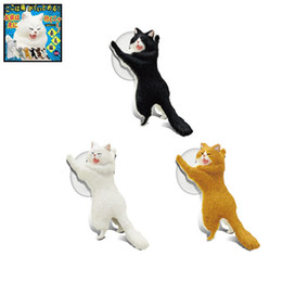 Discount cat mobiles - 2018 Fashion Sucker Cat Reinforcements Articles Kitten Phone Bracket Twisted Egg Mobile Phone Stand Universal Stand Hold