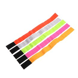 Wrist Band Cycling Australia - Reflective Cycling Arm Band Running Outdoors Safety Belt Wrist Leg Useful Straps