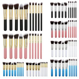 kits maquillage NZ - 10pcs Mini Highlighter Tech Makeup Brushes Set 10 Colors Foundation Make Up Brush pinceaux de maquillage Kit