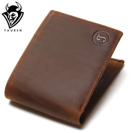 $enCountryForm.capitalKeyWord NZ - 2018 New Crazy Horse Leather Men Wallets Vintage Genuine Leather Wallet For Men Cowboy Top Thin To Put
