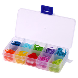 crochet pack NZ - 120pcs pack 10 Color Mini Case Knitting Accessories Crochet Locking Stitch Mix Colors Plastic Markers For Sewing Props&Accessory