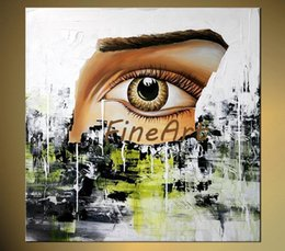 landscape fine art painting UK - hand-painted abstract oil painting human eyes wall art decorative wall quotes palette knife heavy texture oil painting fine art paintings ha