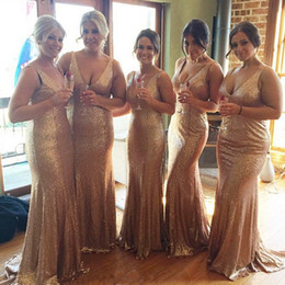 bridesmaids dresses golden Canada - Pageant Evening Dresses Girl's Golden Sequin Wedding Custom For Bridal Gown Special Occasion Prom Party Long Bridesmaid Dresses