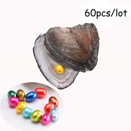 jewellery gift packs Australia - 2018 Natural Pearl Freshwater Cultured Pearl Oyster with 7-9 mm Oval 20 Color Pearl DIY Birthday Gifts Vacuum-Packed DIY Jewellery