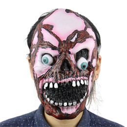 mask horror zombie Canada - Halloween Incident Mask Terrible Face Zombie Evil Figures Halloween Horror Witch Full Face Latex Mask Festival Party Supplies TY2287