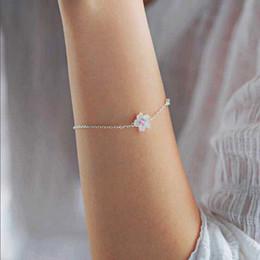 $enCountryForm.capitalKeyWord NZ - 2018 fine 100% 925 sterling silver cute girl gift dainty delicate flower cz link chain female silver flower bracelet for women charm jewelry