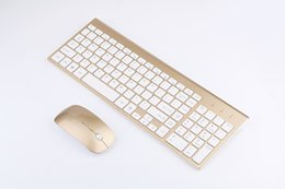 China Wireless 2.4GHz Mini Keyboard Ultra-Thin Mouse Combo Set For Desktops Laptops Rose gold cheap thin mini laptop suppliers