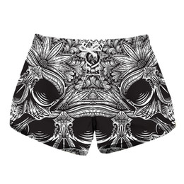 be12f9bb87 Ladies Swim Shorts UK - Women Short Beach Shorts Skull 3D Full Print Girl  Casual Swimming