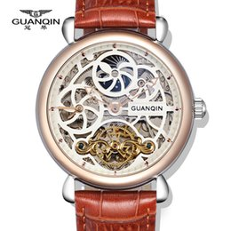 $enCountryForm.capitalKeyWord NZ - Top Brand watches GUANQIN Luxury Tourbillon Automatic Mechanical Watches Men Antique Big Dial Sapphire waterproof Men Watches