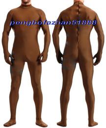$enCountryForm.capitalKeyWord Canada - New Men Body Suit Costums No Head New Coffee Lycra Spandex Suit Catsuit Costumes Men Bodysuit Costumes Fancy Dress Cosplay Costumes P361