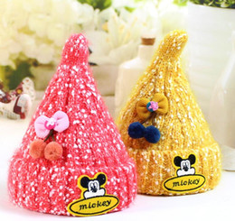 Fancy hats boys online shopping - Newest style Christmas girl warm hat cute fancy snowflake princess snowman beanie colorful knit crochet peaked cap thermal warm kids hats