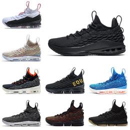 Lebron Jams 15 Nouveau basketball chaussures Low Triple noir Crimson Ashes  fantôme noir gomme hommes baskets chaussures de sport chaussures de sport  taille ... 129e4a227