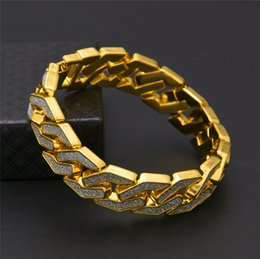 $enCountryForm.capitalKeyWord NZ - Ice Out Hiphop Bracelet Chains For Men Brand Hip Hop Jewelry Gold Silver Plated Rapper Bracelets Wholesale
