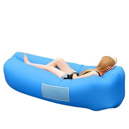 Chinese  New Outdoor Air Lounge Sofa Bed Inflatable Lounger with Pillow Set Fast Inflatable Couch Outdoor Folding Air Sofa Lay Bed Sleeping Bag  manufacturers