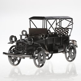 Model Car Sales UK - Mettle Hot Sale Iron Antique Bubble Car Model Creative Metal Craft Home furnishings For Birthday Gift