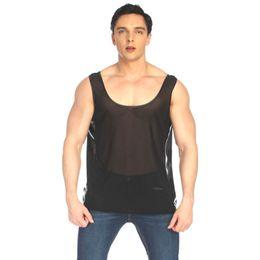 $enCountryForm.capitalKeyWord NZ - Man Lingerie Sexy Exotic Tanks See-through Net Gays Erotic Vest Men Fetish Waistcoat Adult Costume Night Club Wear Sex Underwear