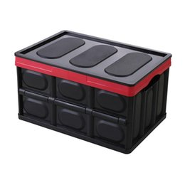 Big Storage Boxes NZ - 1pc Travelling Storage Boxes Organizer Big Capacity Portable Case Multifunctional Foldable Plastic Container Box (Black)