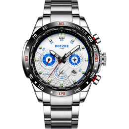 Men Sports Racing Watch Australia - Men Sports Automatic Mechanical Watches White Fashion Casual Luxury Stainless Steel Racing Watch Relogio Masculino