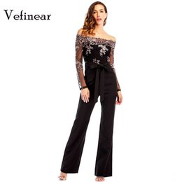 Vefinear 2018 Long Sleeve Paillette Black Blackless Women Jumpsuits Sexy  Fashion Night Party Sequin Romper Summer Hollow Out c762be4eebac