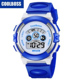 Kids watches girls electronic online shopping - COOLBOSS children kids students girls sport led digital watch fashion electronic Multifunction Luminous gift party boys watches