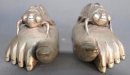 China Pole Australia - China Hand Hammered cupronickel feet decorated with ancient cicada