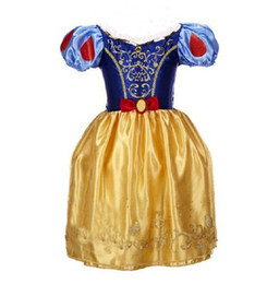 Children Straight Gown Styles UK - 9 styles Girls snow white dresses christmas halloween princess girl tutu dress children bow cosplay skirts kids Performance clothes