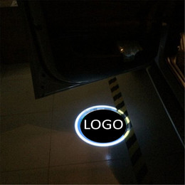 car led welcome light toyota NZ - Car Led Door Light for audi for toyota Led Logo Ghost Shadow Lamp Welcome Lights Warning 12V