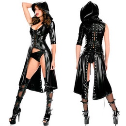 $enCountryForm.capitalKeyWord Canada - Sexy PU Leather Lingerie Sexy Jumpsuit Dress Black Faux Latex Costume Erotic Catsuit pvc Erotic Suit Halloween Apparel Sex Wear