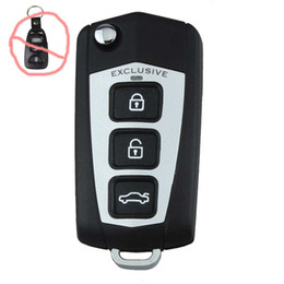 remote systems Australia - 3Buttons 1 Panic Flip Folding Key Shell Key Blank Refit for Car HYUNDAI Sonata Genesis Coupe Remote Fob SV