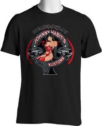 Tall Tee Men Canada - Cotton Shirts Rock A Billy T Shirt Bikini Girl Greaser Custom Lowered Small to 6XL and Tall T-Shirt men t shirt Tops Tees