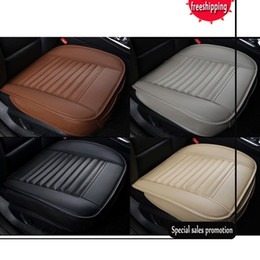 2017 High Quality Bamboo Charcoal PU Leather Auto Car Seat Cover Cushion Full Surround Breathable Auto Interior Accessories Car Decoration on Sale