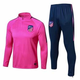 Top qualidade de treinamento competitivo ternos adultos desgaste do treinamento sportswear 1718 GRIEZMANN TORRES KOKE Madri jaqueta jaqueta de longo zíper em Promoção