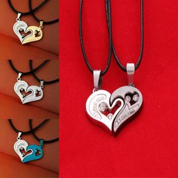 Heart Shaped Chains For Couples UK - LNRRABC Fashion 1 Pc Unisex Women Men Charming I Love You Heart Shape Pendant Necklace For Lovers Couples Jewelry