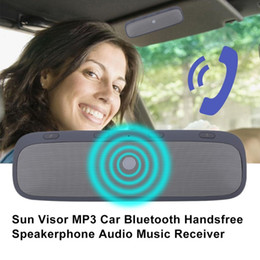 $enCountryForm.capitalKeyWord Canada - Sun Visor Design MP3 Player Car Kit Bluetooth Hands-free Call Speaker For Mobile Phone Audio Music Receiver