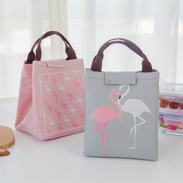 Cool tote lunCh bag online shopping - New Portable Lunch Picnic Bag Cartoon Flamingo Pouch Storage Bags Insulated Thermal Bento Cooler Tote High Quality lc Y