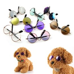 $enCountryForm.capitalKeyWord NZ - 20pcs lot Fashion Pet Cat Dog Sunglasses Glasses Eyewear Cool Grooming Photos Props Pet Lovely Accessories