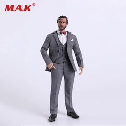 $enCountryForm.capitalKeyWord NZ - FC001 1 6 Scale Male Clothes Set Grey Gentleman Suit for 12 inches Man Action Figure Body Accessory