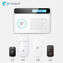 Intelligent Gsm Alarm Australia - 2018 Etiger intelligent Android IOS app remote control Wireless Home Security PSTN GSM Alarm System Kit+large LCD screen